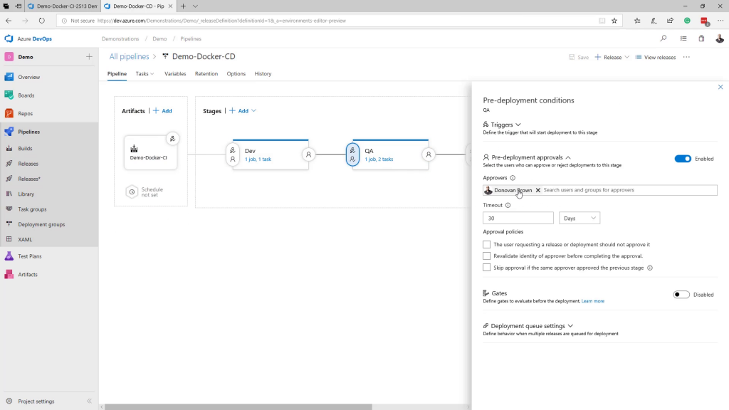 Environments de Release en Azure DevOps
